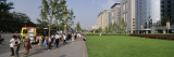 Tourists on a Road Side in Front of Buildings, Oriental Plaza, Beijing, China Wall Decal by  Panoramic Images