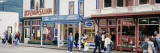 People in Front of Stores, Skagway, Alaska, USA Wall Decal by  Panoramic Images