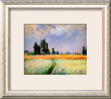 Distant Poplars Framed Giclee Print by Claude Monet
