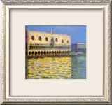 Venice, the Doge Palace Framed Giclee Print by Claude Monet
