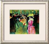 Dance at Moulin Rouge Framed Giclee Print by Henri de Toulouse-Lautrec