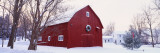 Winter, Barn, Ada, Michigan, USA Wall Decal by  Panoramic Images