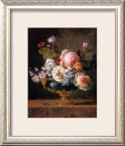 Fleurs dans un Vase de Porceleine Bleue, c.1780 Art by Anne Vallayer-coster
