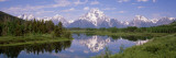 Mount Moran, Snake River, Oxbow Bend, Grand Teton National Park, Wyoming USA Wall Decal by  Panoramic Images