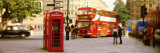 Phone Box, Trafalgar Square Afternoon, London, England, United Kingdom Wall Decal by  Panoramic Images