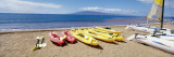 Canoes, Kanapali, Maui, USA Wall Decal by  Panoramic Images