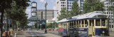 View of a Tram Trolley on a City Street, Court Square, Memphis, Tennessee, USA Wall Decal by Panoramic Images