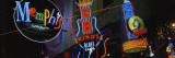 Neon Signs, Memphis, Tennessee, USA Wall Decal by Panoramic Images