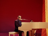 Ray Charles at White Piano Wall Decal