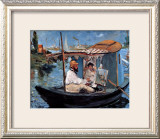 Monet Floating in His Studio Framed Giclee Print by Édouard Manet