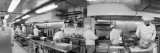 Black and White, Chefs in Kitchen Wall Decal by  Panoramic Images