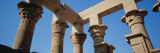 Low Angle View of the Ruins of Columns, Nefertari's Temple of Hathor, Aswan, Egypt Wall Decal by  Panoramic Images