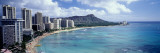 Waikiki Beach, Hawaii, USA Autocollant mural par Panoramic Images 