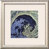 Feminine Wave (detail) Framed Giclee Print by Katsushika Hokusai