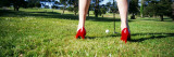 Woman Golfing in High Heels, San Francisco, California, USA Wall Decal by  Panoramic Images