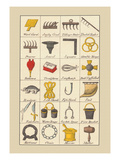 Heraldic Symbols: Wool Card and Jersey Comb Wall Decal by Hugh Clark