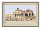 Wisconsin Building, Centennial International Exhibition, 1876 Wall Decal by Thompson Westcott