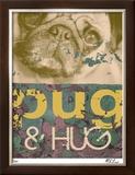 Pug & Hug Limited Edition Framed Print by M.J. Lew