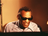 Ray Charles in the Recording Studio Wall Decal