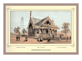 Mississippi Building, Centennial International Exhibition, 1876 Wall Decal by Thompson Westcott