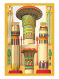 Egyptian Columns Wall Decal by Racinet 