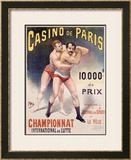 Casino de Paris Championnat de Lutte Framed Giclee Print by  PAL (Jean de Paleologue)