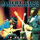Albert King con Stevie Ray Vaughan , en sesión, en inglés Vinilo decorativo