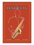 The Tenor Sax Wall Decal