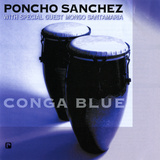 Poncho Sanchez - Conga Blue Wall Decal