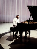 Ray Charles Filming for NBC Wall Decal