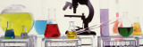 Close-up of Laboratory Equipment Wall Decal by  Panoramic Images