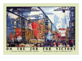 On the Job for Victory, c.1918 Wall Decal by Jonas Lie