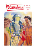Science Fantasy: Robot with Human Friends Wall Decal