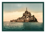 Mont St. Michel at High Tide Wallstickers