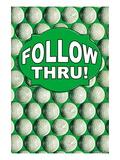 Follow Thru! Wall Decal