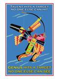 Genius Hits a Target Lepicí obraz na stěnu