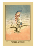 Forward America! Wall Decal by Carroll Kelly