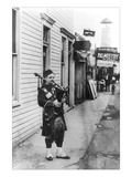 Scottish Bagpiper Wall Decal by Irving Underhill