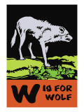 W is for Wolf Wall Decal by Charles Buckles Falls