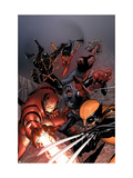 New Avengers No.16 Cover: Iron Man, Wolverine, Spider-Man, Captain America and Spider Woman Prints by MCNiven Steve