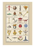 Heraldic Symbols: Crossbow and Escallop Wall Decal by Hugh Clark