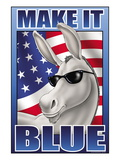 Make It Blue the Mascot Wall Decal by Richard Kelly
