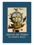 Around the World in Eighty Days Wallsticker