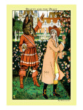 Beauty and the Beast, The Beast in Red, c.1900 Wall Decal by Walter Crane