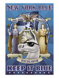 New York Blue, Keep It Blue Wall Decal by Richard Kelly