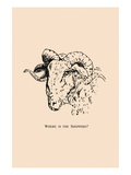 Optical Illusion Puzzle: Sheep and Shepherd Wall Decal
