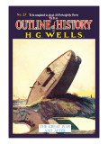 Outline of History by H.G. Wells, No. 23: The Great War and After Wall Decal
