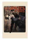 Les Apaches de Paris Wall Decal by Louis Malteste