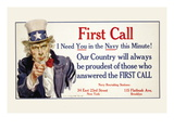First Call, I Need You in the Navy, c.1917 Wall Decal by James Montgomery Flagg