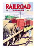 Railroad Magazine: The Circus on the Tracks, 1946 Wall Decal